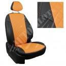 черный+оранжевый РОМБ